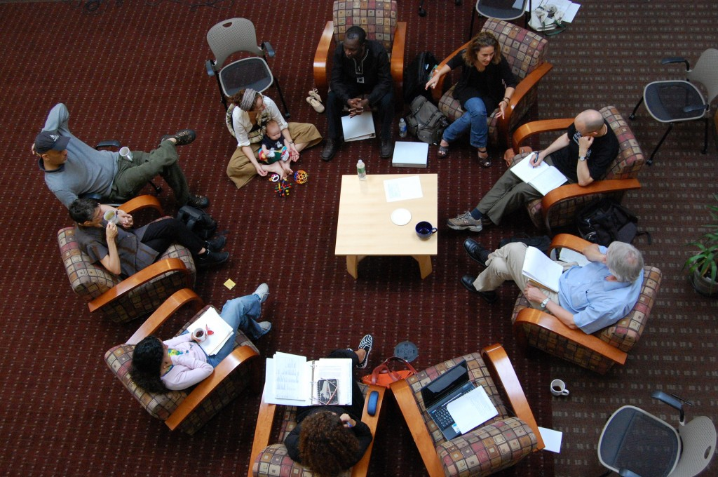 Theater practitioners from around the world come together for a discussion of their methods used for peacebuilding and the arts at Brandeis University.
