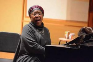 Jane Sapp at piano